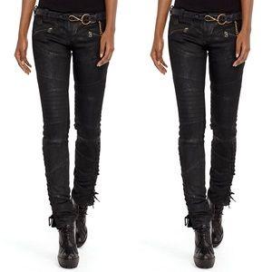 Ralph Lauren Coated Moto Jeans size 27